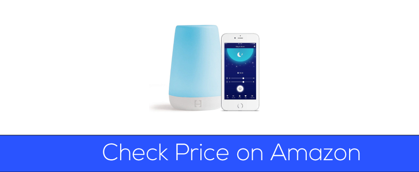 Price on Amazon of Hatch Baby Rest Sound Machine, Night Light and Time-to-Rise