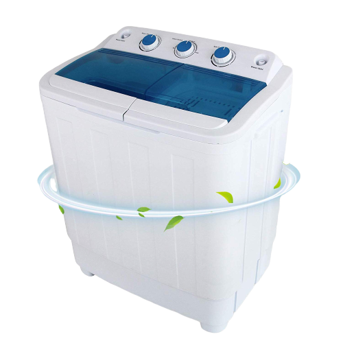 KUPPET 17lbs Compact Twin Tub Washer and Spin Dryer Combo